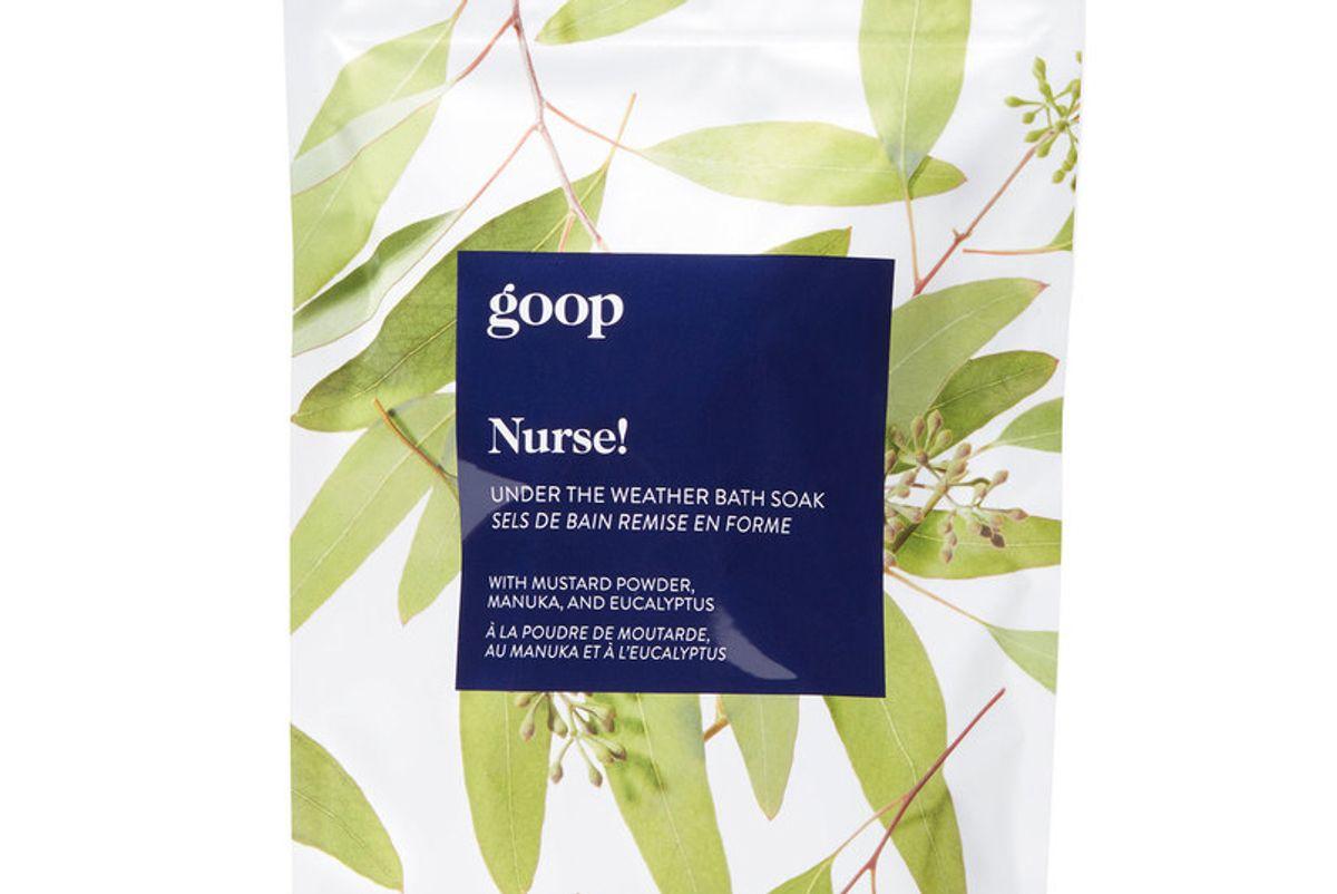 goop nurse under the weather bath soak