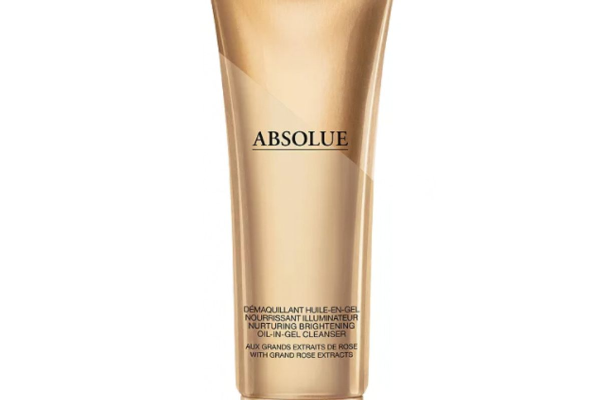 lancome absolue nurturing and brightening oil in gel cleanser with grand rose extracts