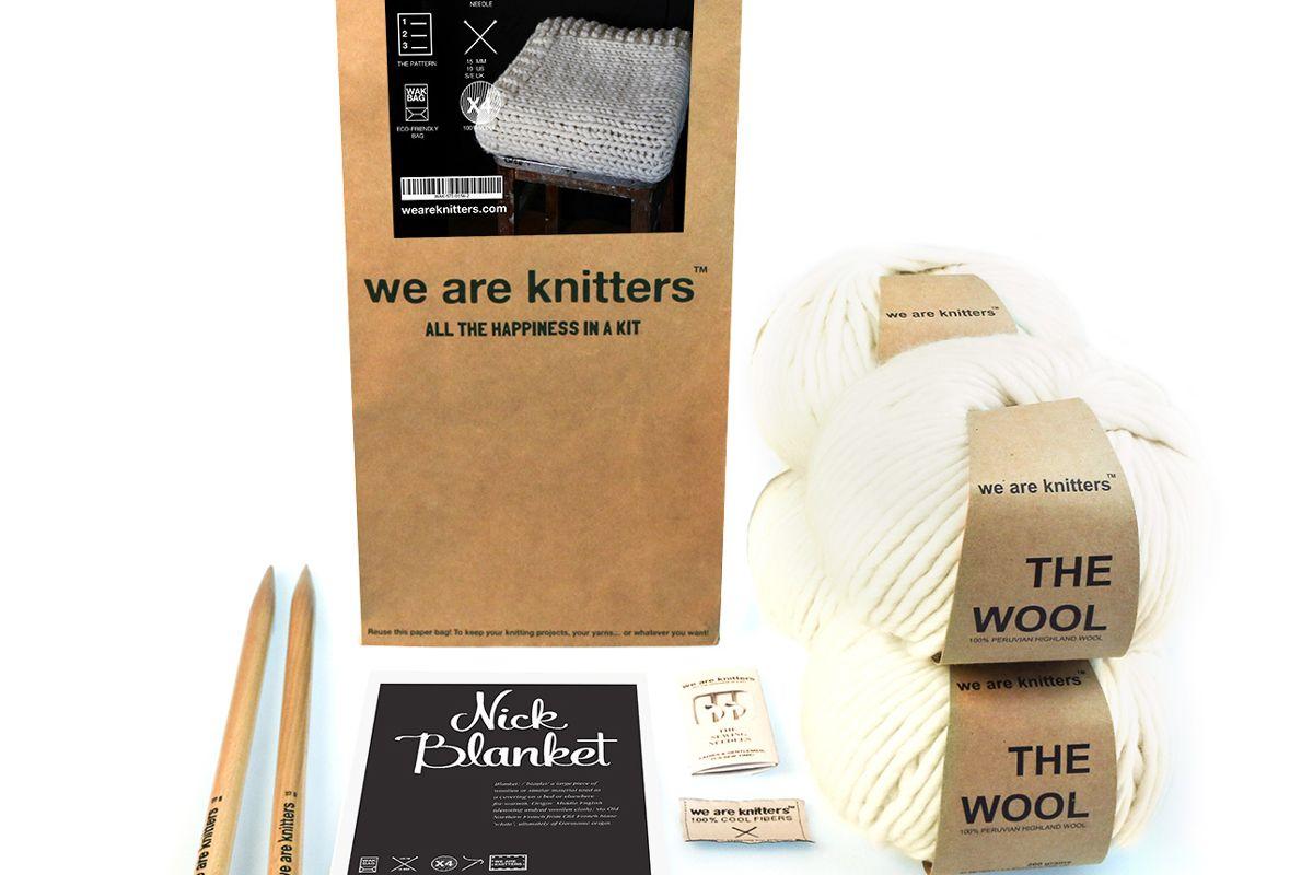 we are knitters nick blanket knitting kit
