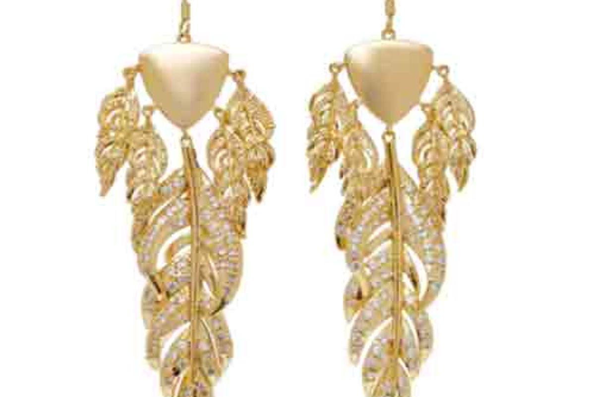 Raven Gold-Tone Chandelier Earrings