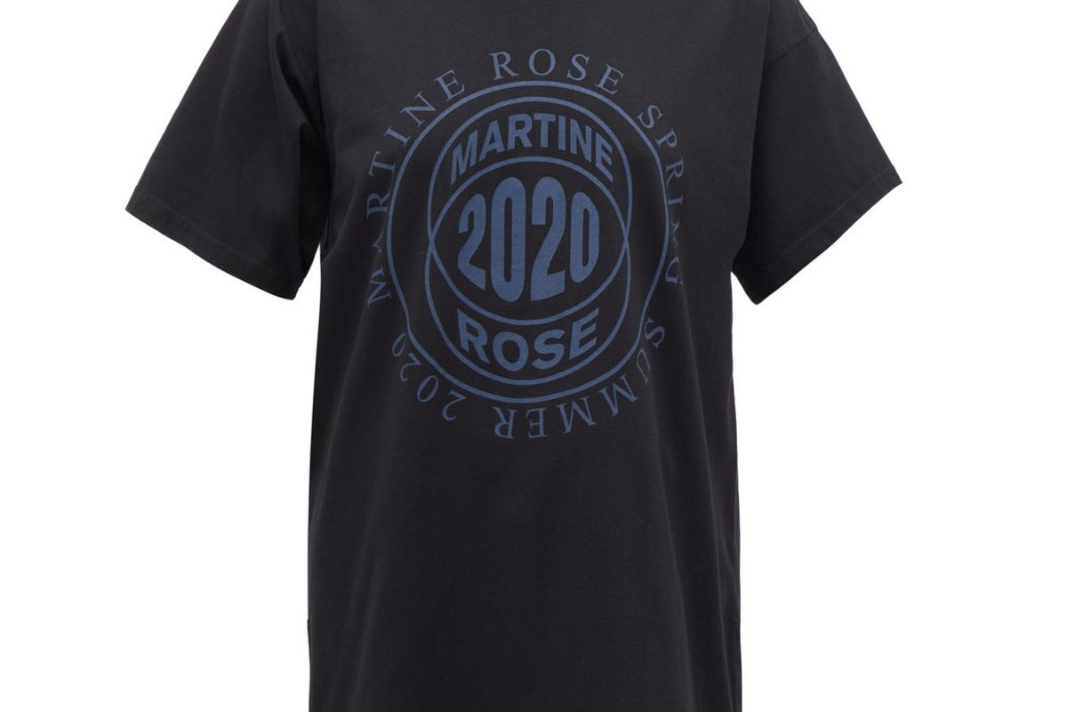 martine rose logo print two way cotton t shirt
