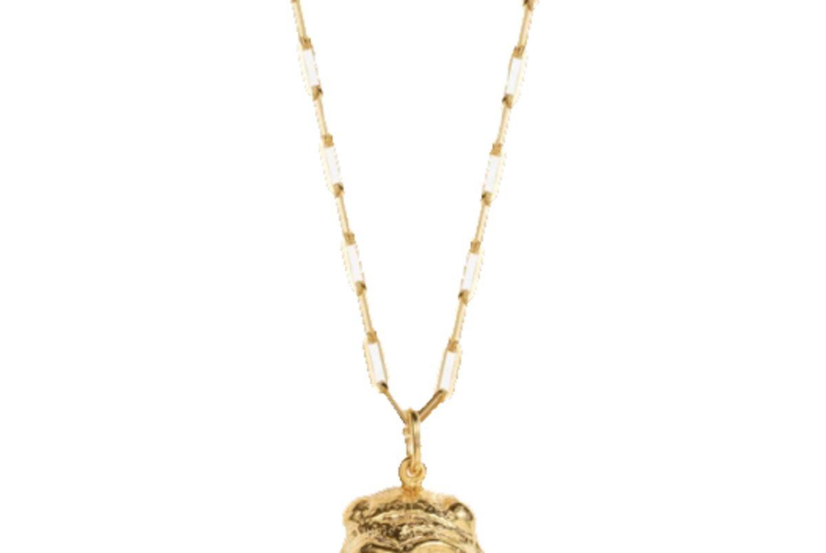 victoria strigini lions head necklace