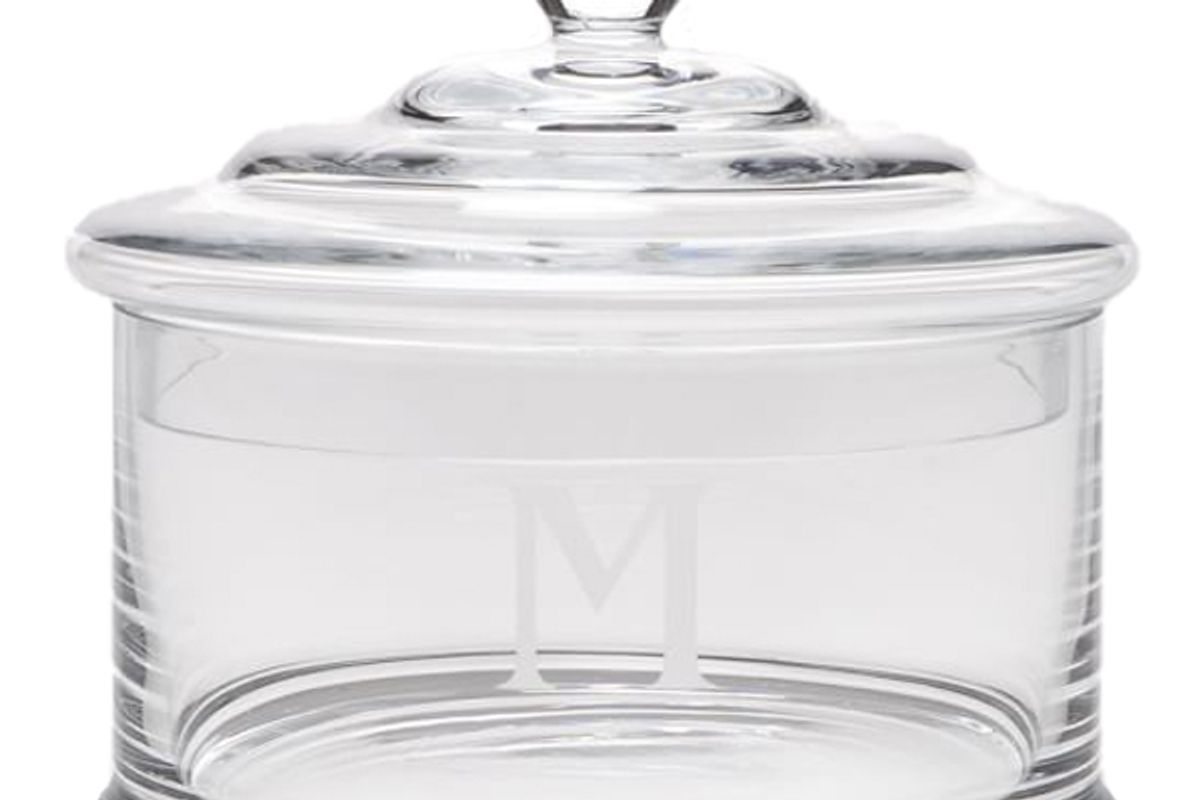 pottery barn pb classic glass canister