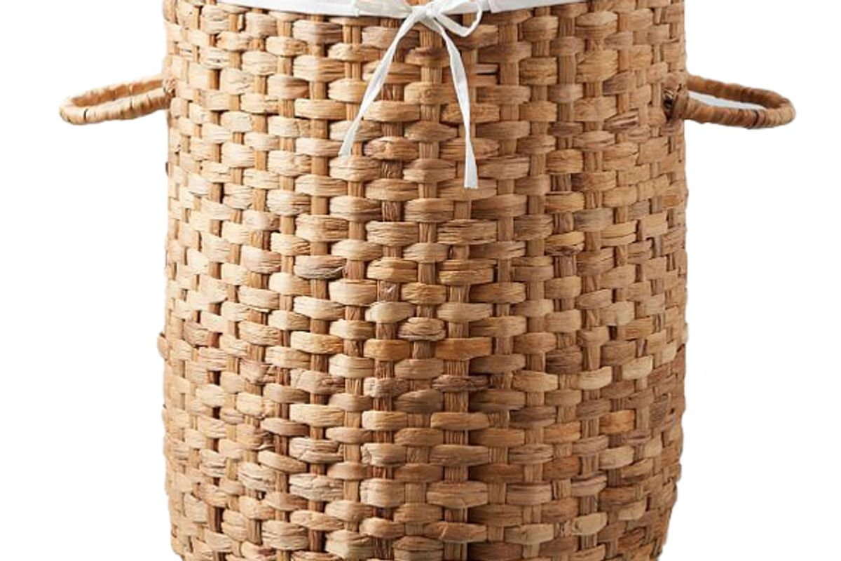 west elm round weave laundry baskets natural