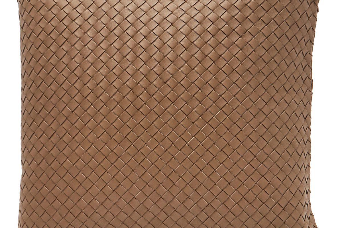 bottega veneta intrecciato leather cushion