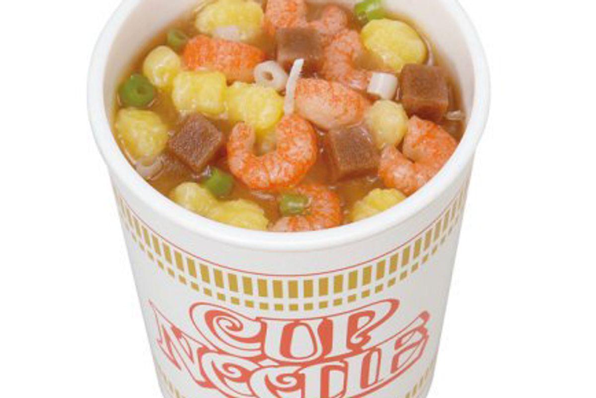 japan trend shop nissin cup noodle candle