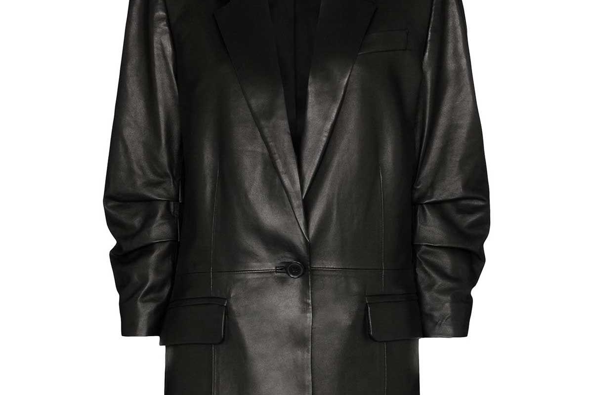 frame x imaan darted single breasted blazer