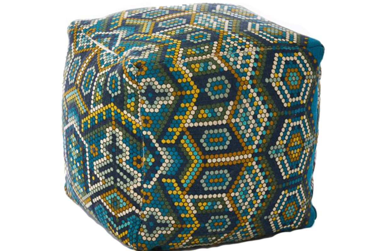 Outdoor Mosaic Tile Pouf