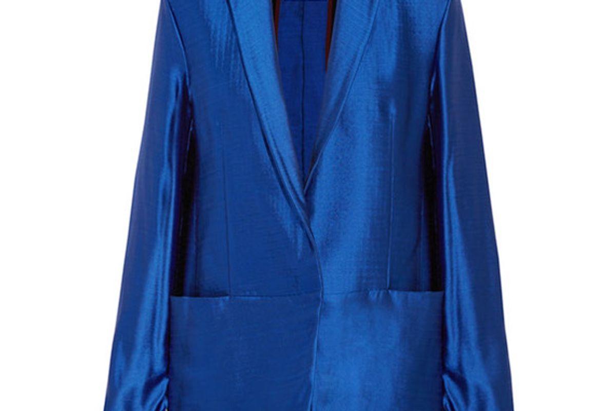 Ravenna wool-blend lamé blazer