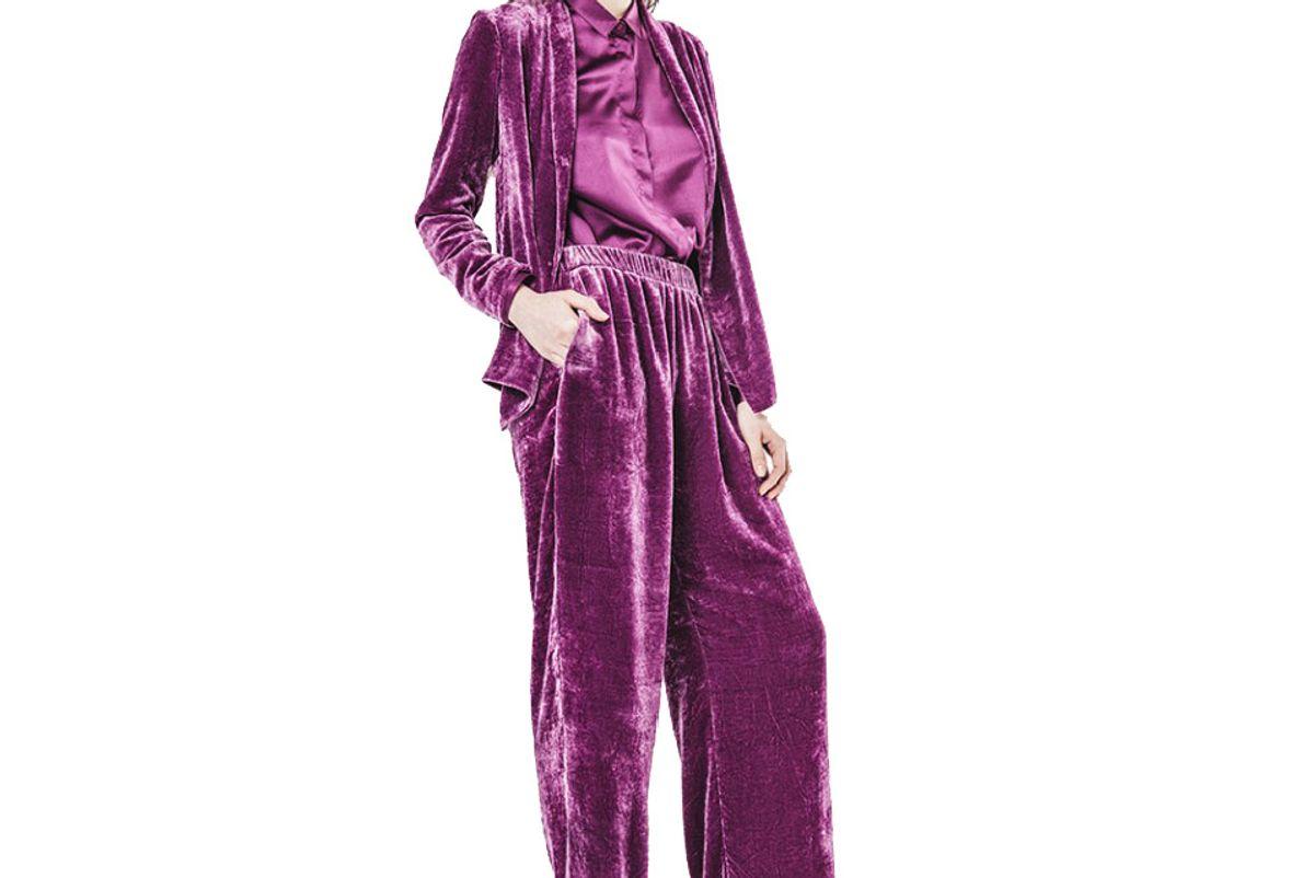 Abaca Silky velvet blazer