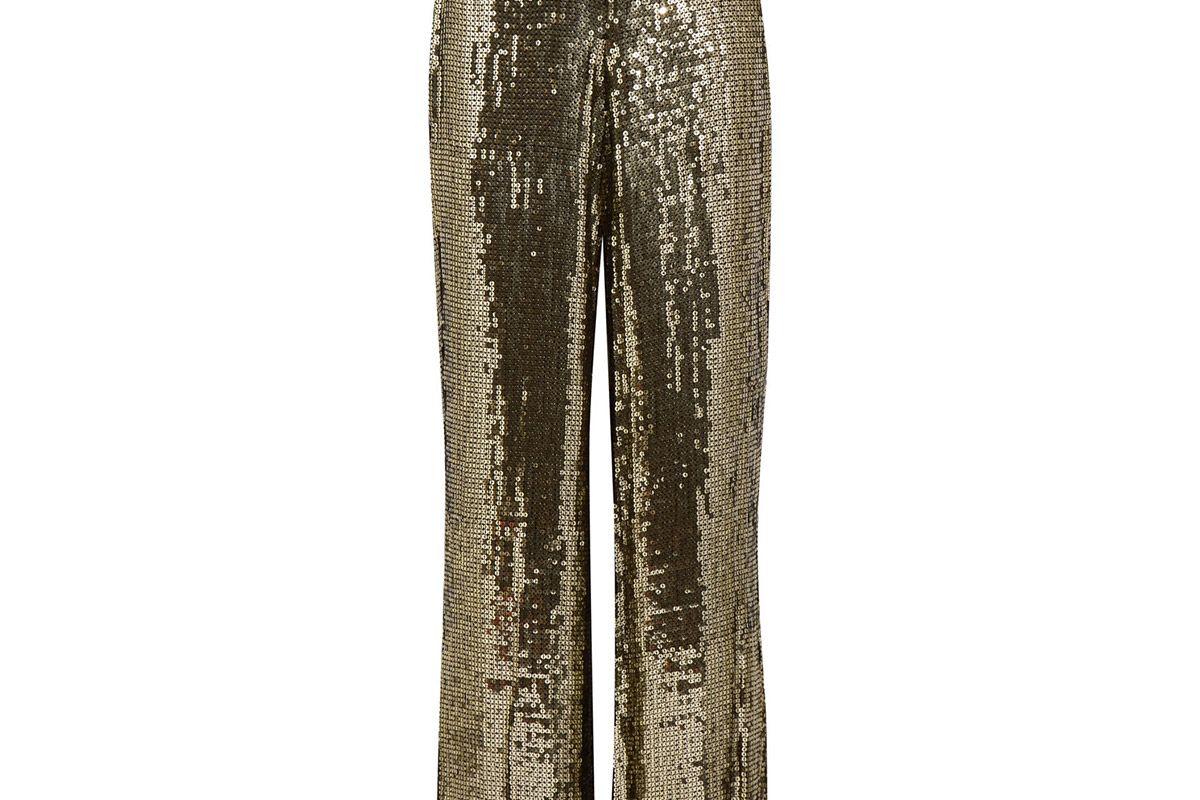Racquel sequined satin wide-leg pants