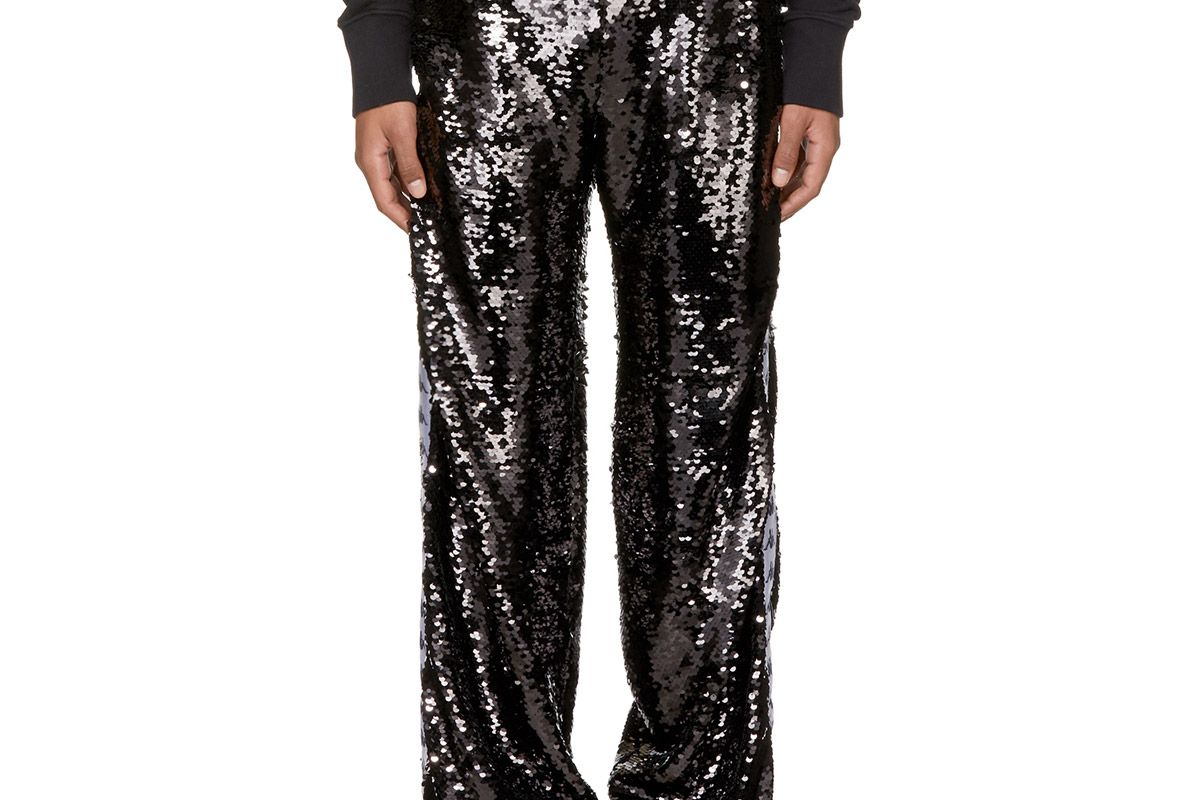 Black Kappa Edition Sequin Trousers