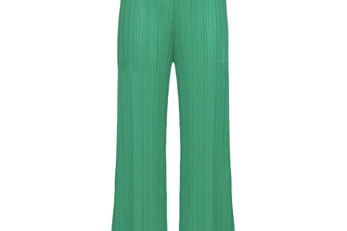 pleats please issey miyake high waisted plisse trousers