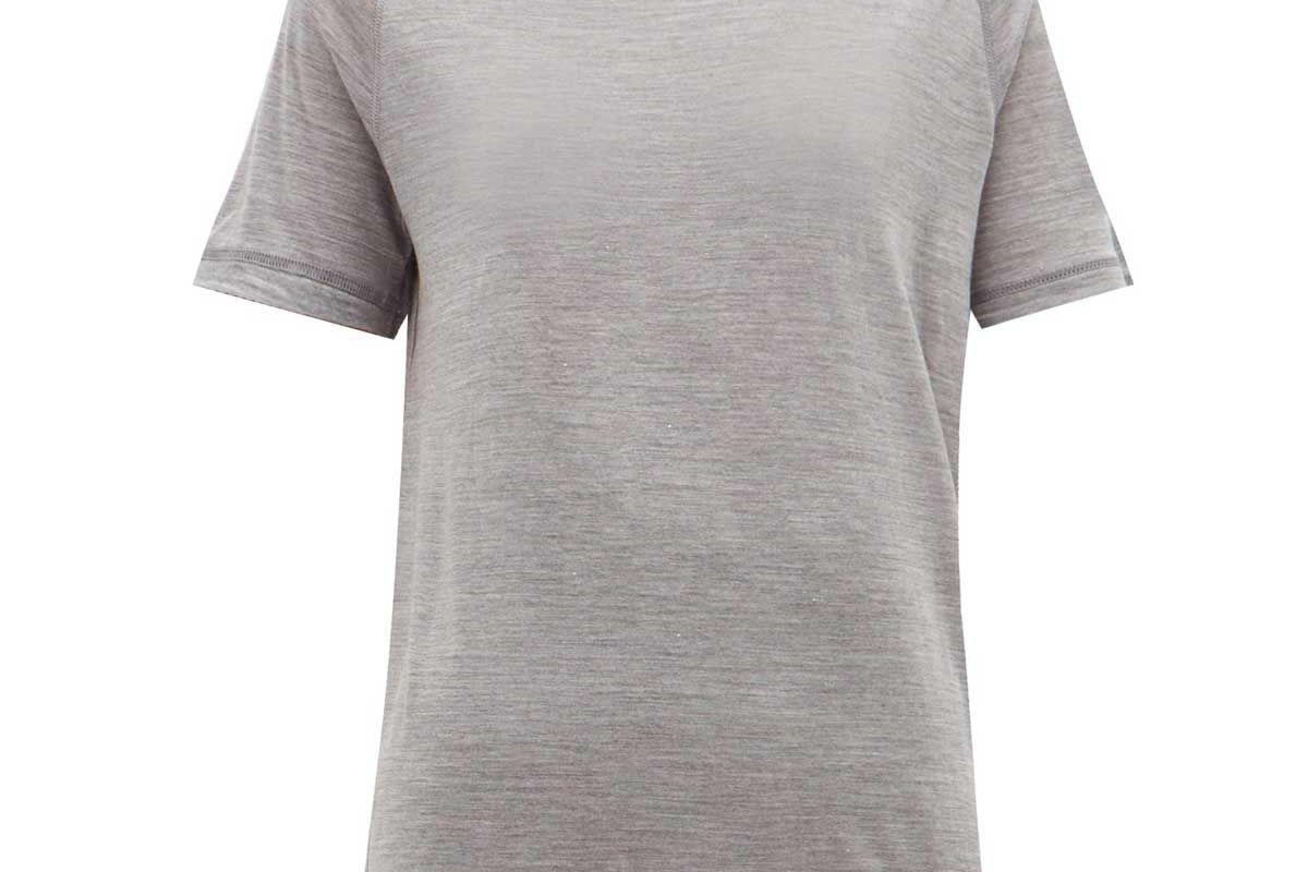 flake egronomic wool blend t shirt