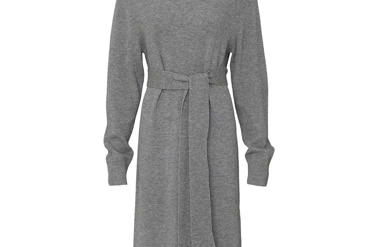 all saints roza cashmere blend jumper dress