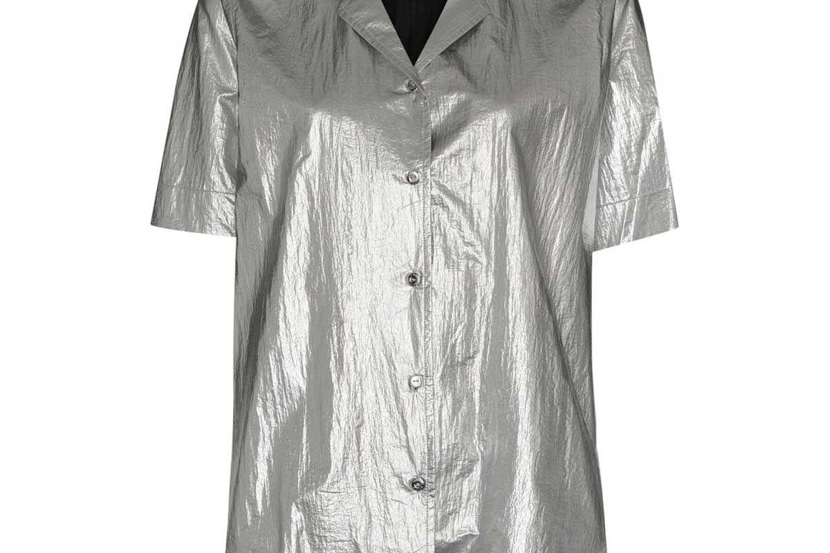 simon miller dade metallic shirt