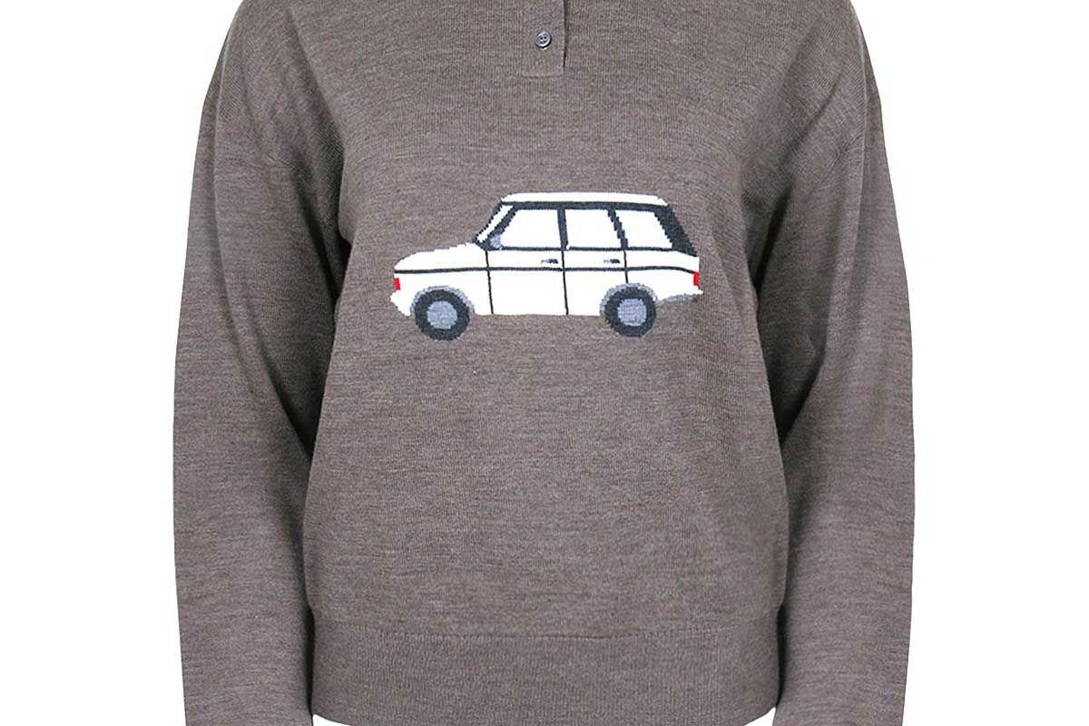 sandy liang lil tour sweater walnut