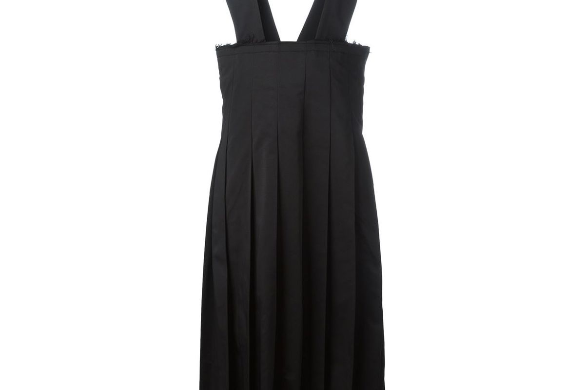 Pleated Pinafore Dress