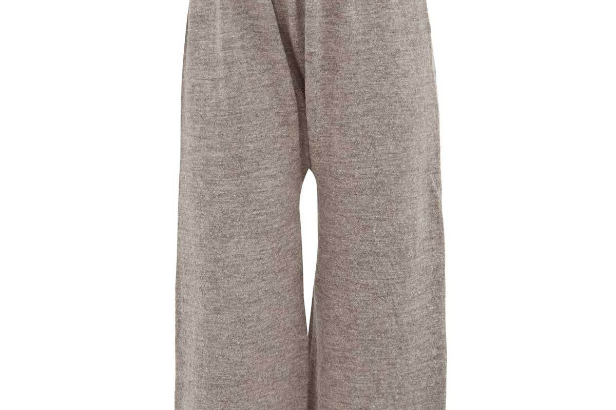 lauren manoogian peg cropped alpaca blend trousers