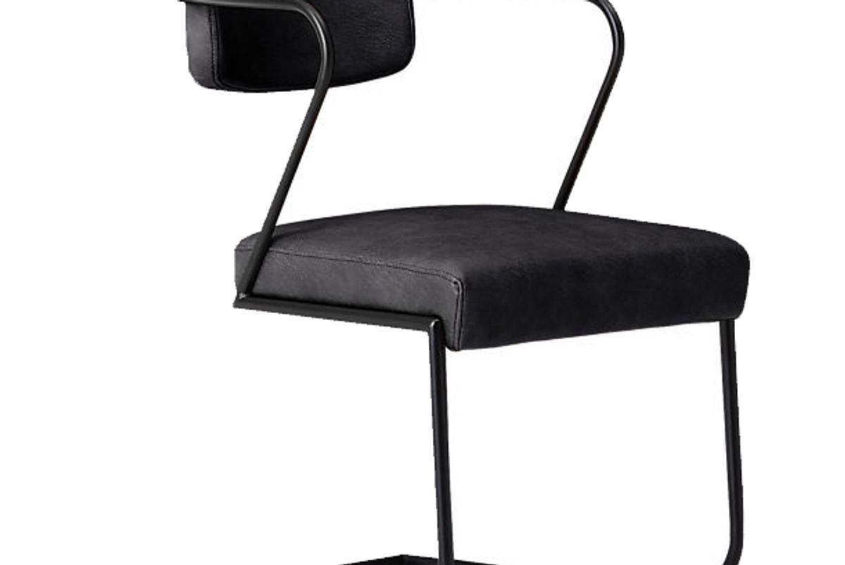 cb2 gaff metal frame chair