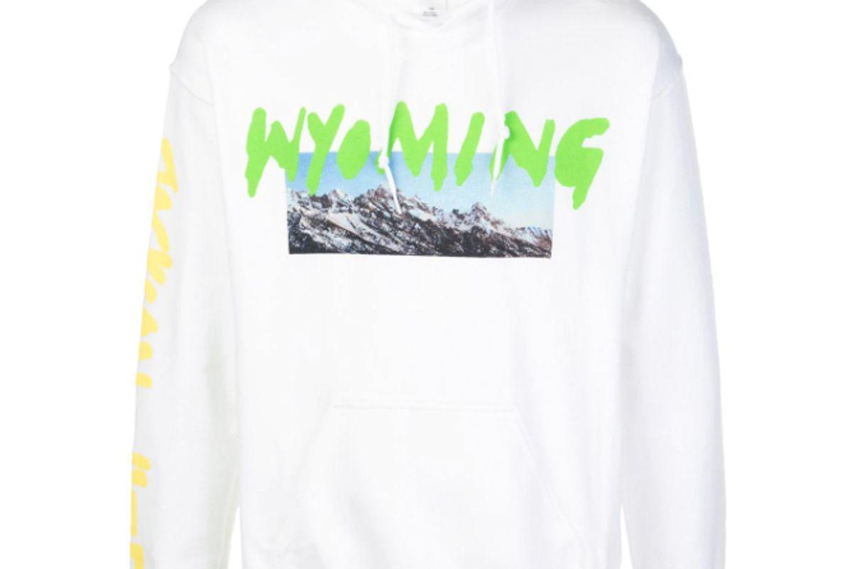 kanye west wyoming print hoodie