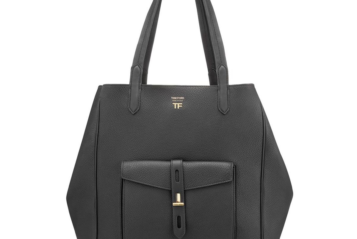 tom ford grain leather t twist tote
