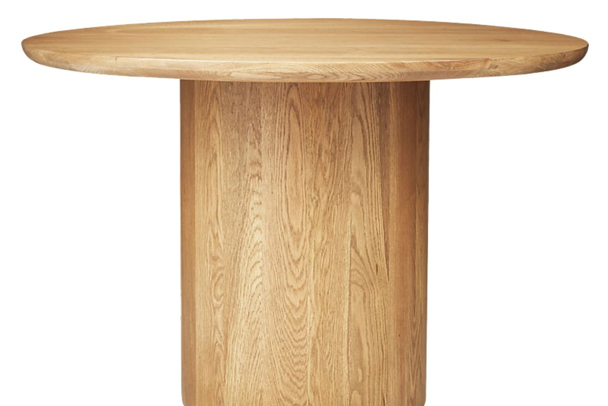 cb2 spindler round dining table