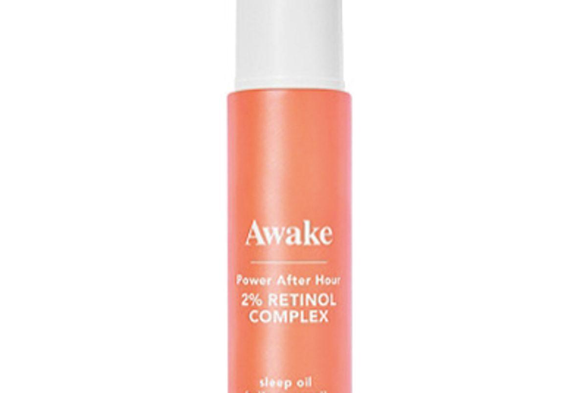 awake beauty power after hour two percent retinol complex sleep oil