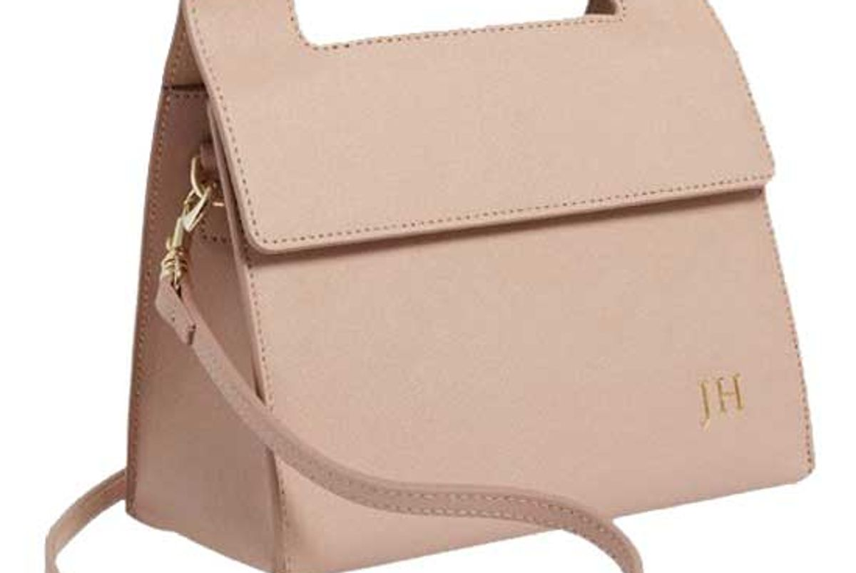 the daily edited taupe handle shoulder bag