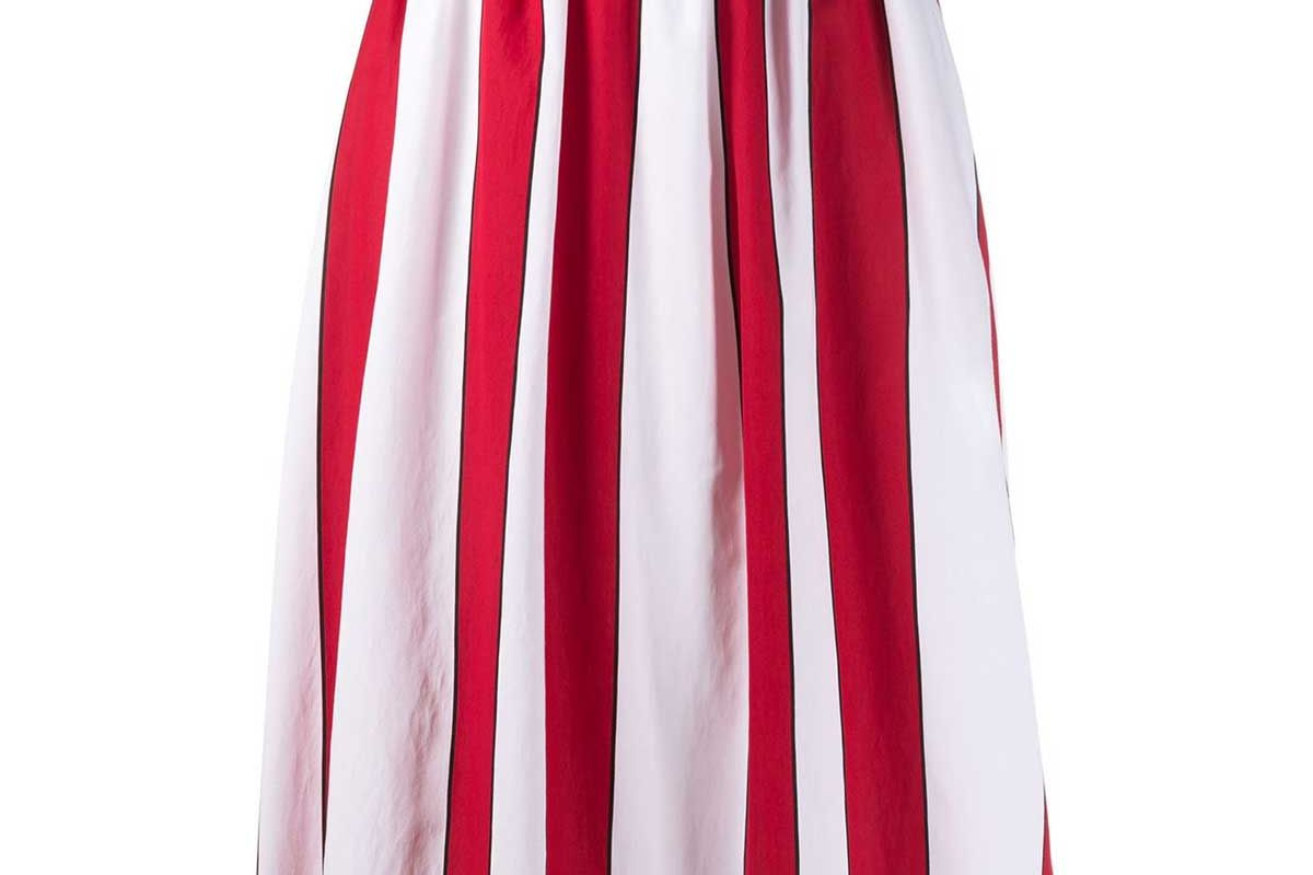 woolrich striped pleated skirt