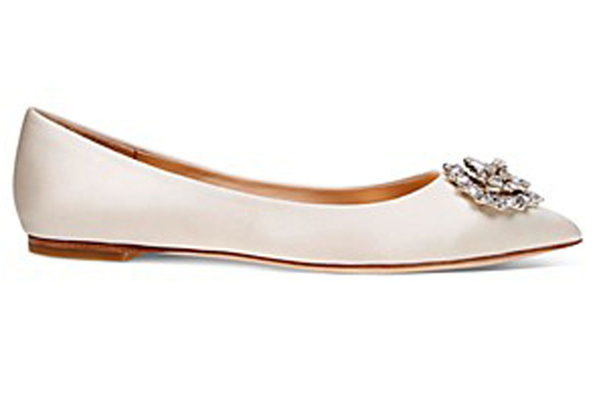 Davis Crystal Embellished Pointy Toe Flat