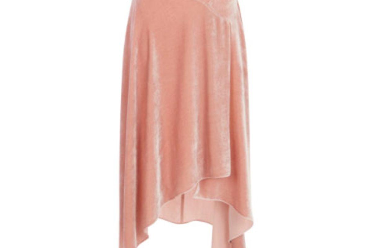 Solid Velvet Skirt