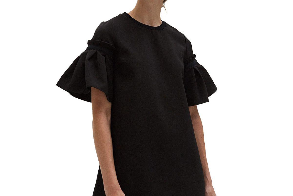 Pleated Sleeve Dress