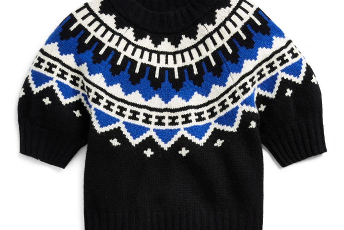 polo ralph lauren cropped short sleeve sweater