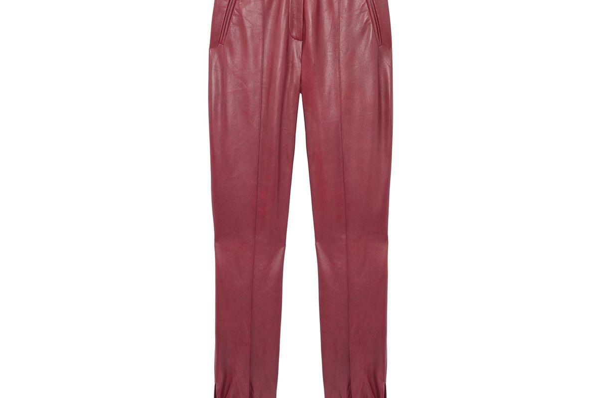 rebecca taylor vegan leather tie cuff pant