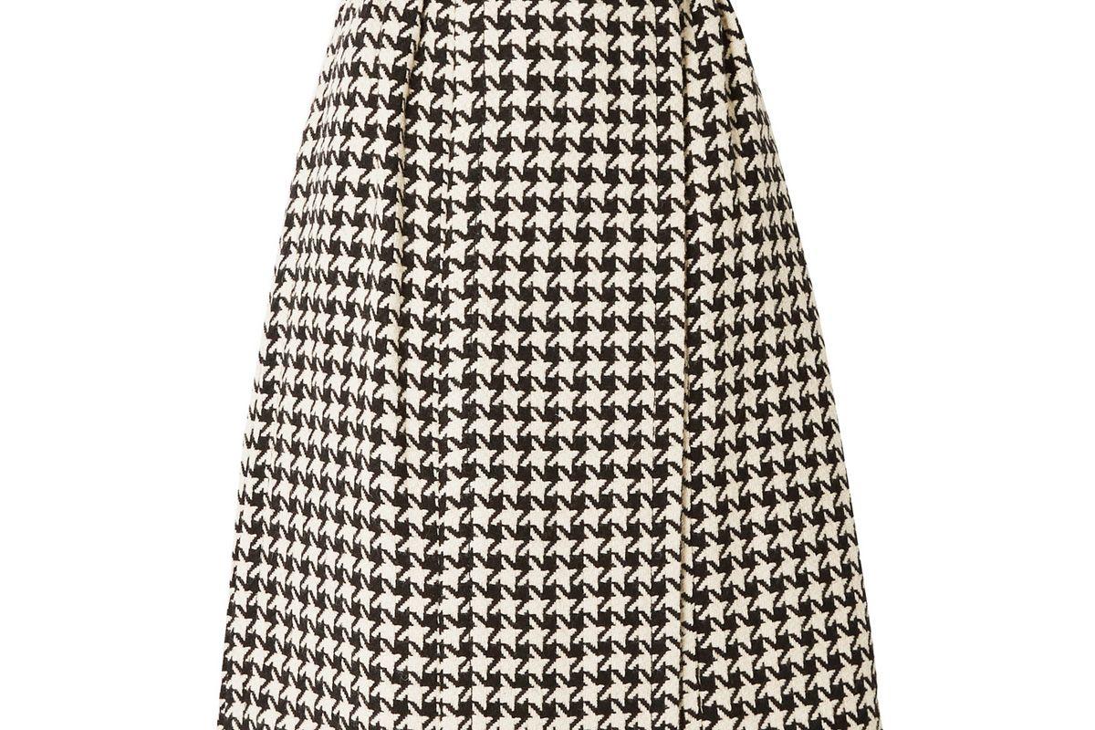 gucci houndstooth wool blend tweed wrap skirt