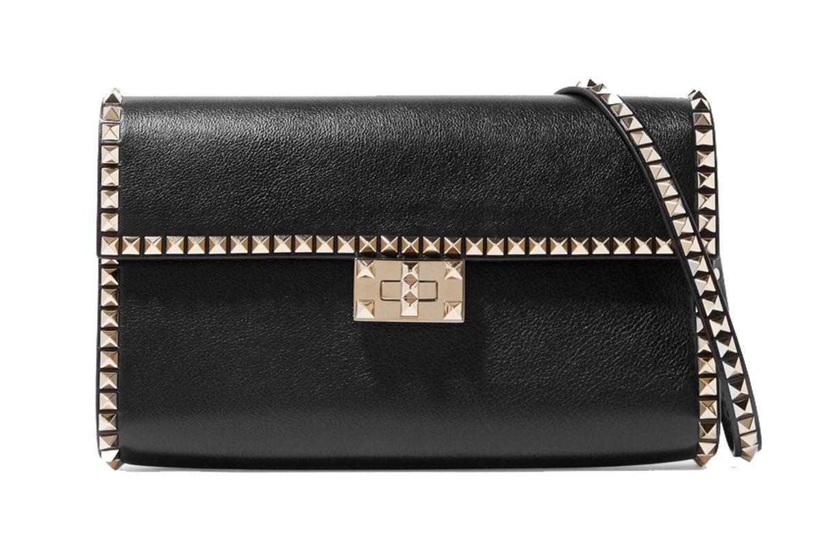 valentino garavani rockstud no limit textured leather shoulder bag