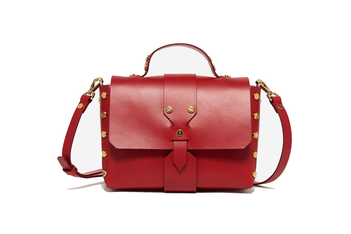 Abbey Satchel Bag in Red