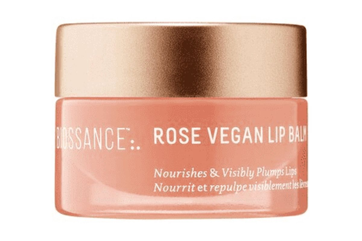 biossance squalane rose vegan lip balm