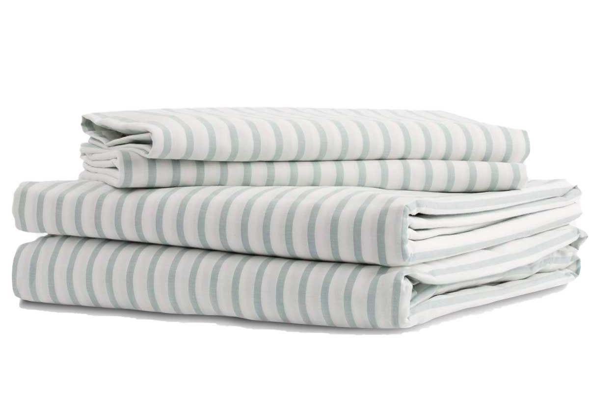 envello crisp chambray sheet set