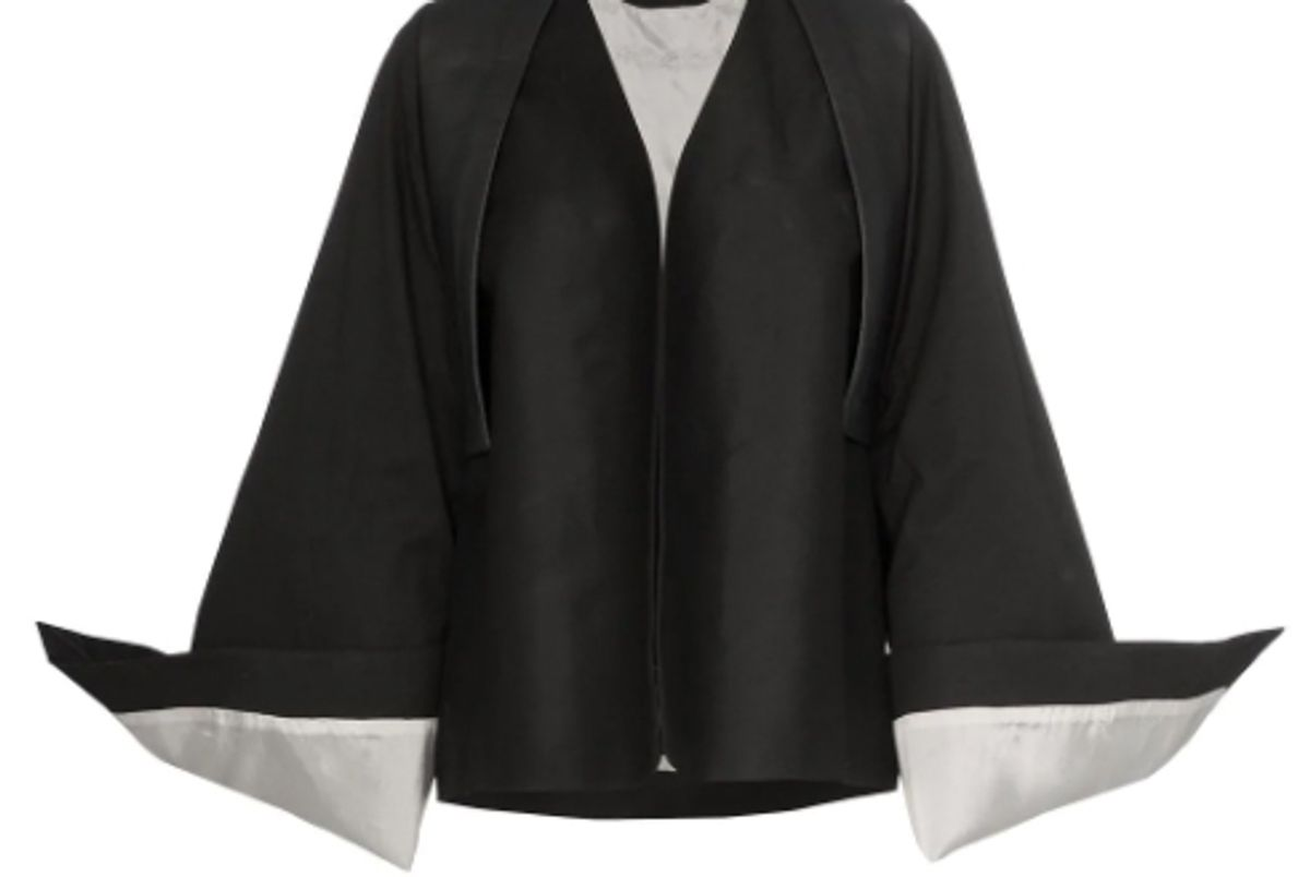 rick owens oversized cuff cotton blend kimono jacket