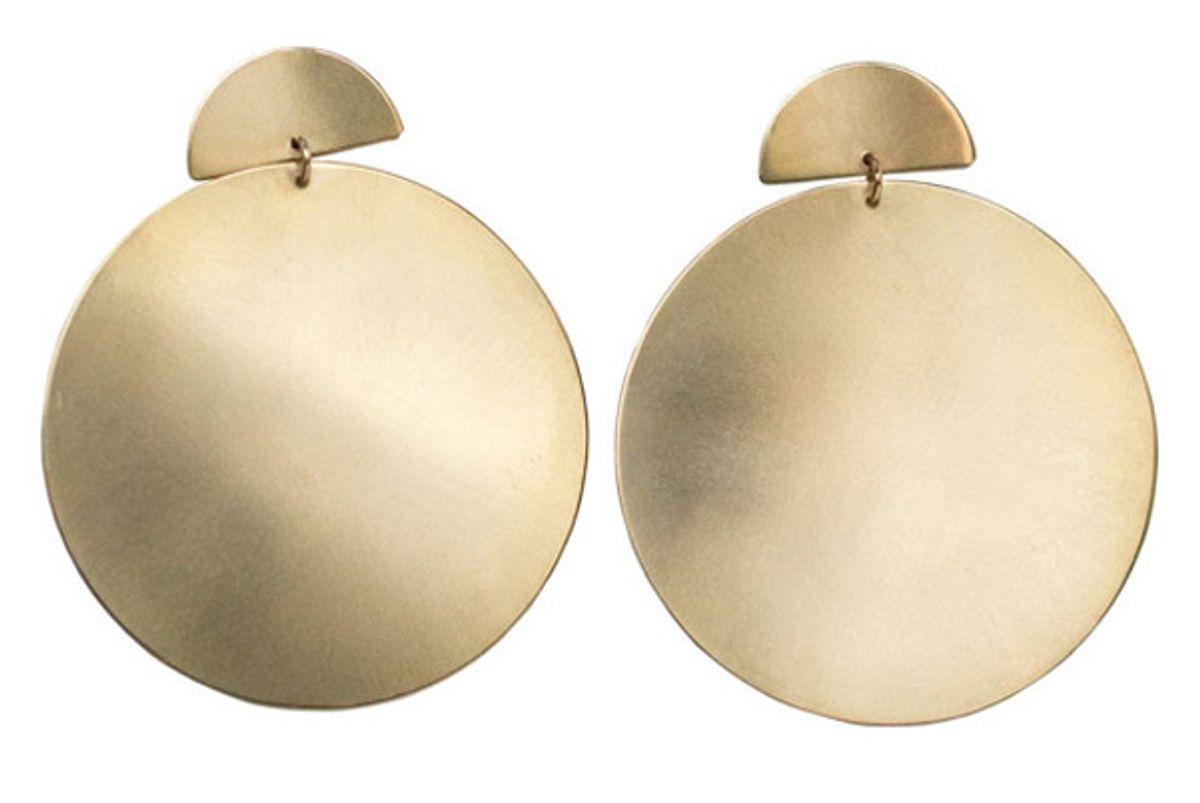 Brass Disc Nina Earrings