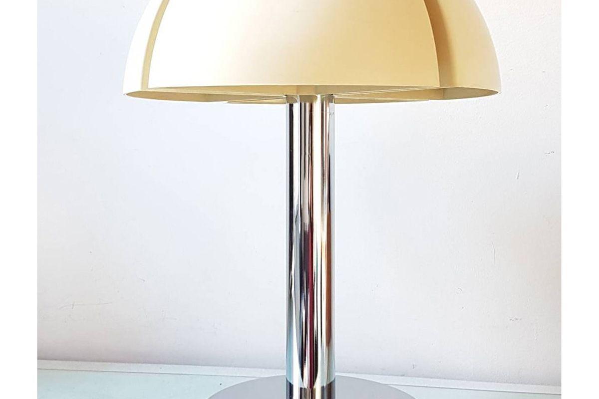 vintagonist vintage large raak mushroom desk lamp space age 1970s