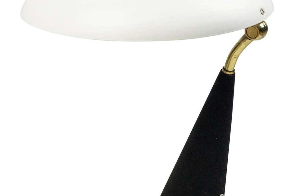 1950s italian design table lamp attributed to lumen milano