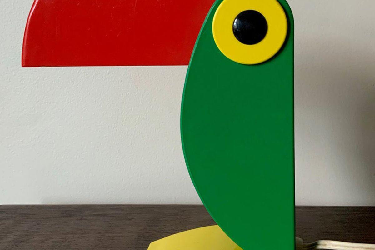 flamingjunevintage vintage 60s old timer ferrari toucan lamp verona italy