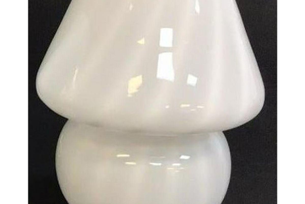 suuuupersaturday murano swirl stripe glass mushroom lamp