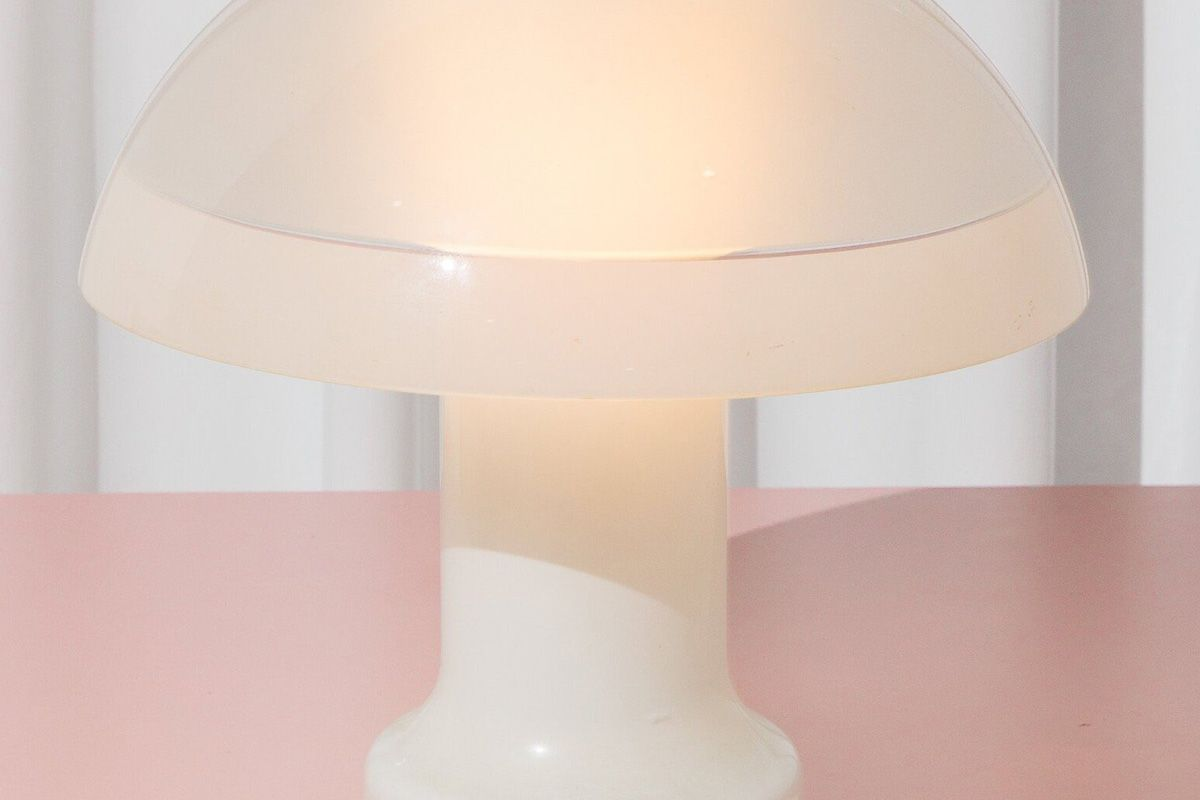 birite studio 1960s glass mushroom lamp