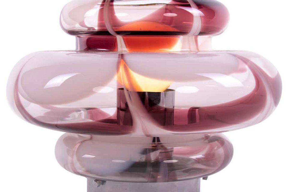 mazzega 1970s italy mazzega murano table lamp