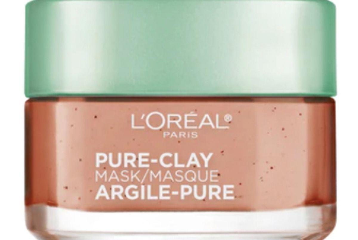 loreal pure clay mask exfoliate and refine pores