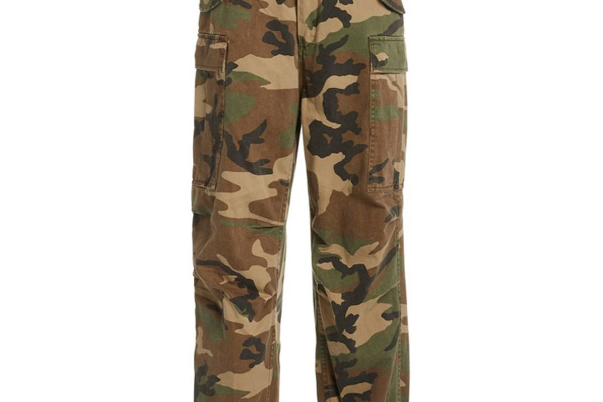 r13 camouflage cotton joggers